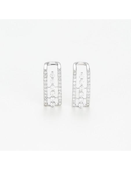 Bracelet Bulle de diamants Or Blanc et Diamants 0,06cts
