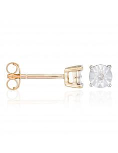 Collier Brillant d'amour Or Blanc et Diamants 0,10cts