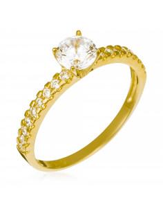 Bague Alliance 2 rang d'amour Or Blanc et Diamants 0,20ct