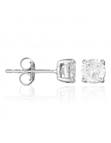 """Boucles d'oreilles"""" Single diamond 1 Carat"""" D1ct/2"""